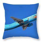 Alaska Boeing 737-490 N791as Tinker Bell Phoenix Sky Harbor January 12 2016 Throw Pillow