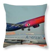 Alaska Boeing 737-900 N493as More To Love Phoenix Sky Harbor October 27 2017 Throw Pillow