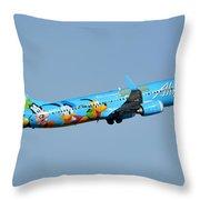 Alaska Boeing 737-990 N318as Disneyland Phoenix Sky Harbor January 19 2016 Throw Pillow