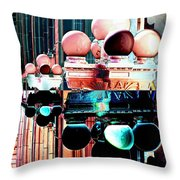 Alaska Building Lights Throw Pillow