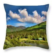 Alaska Digital Paint Throw Pillow