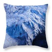 Alaska Exit Glacier Throw Pillow