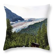 Alaska Glacier B Throw Pillow