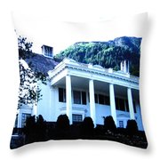 Alaska Governors Mansion Throw Pillow