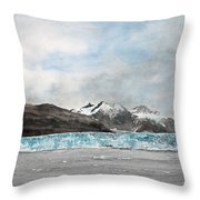 Alaska Ice Throw Pillow