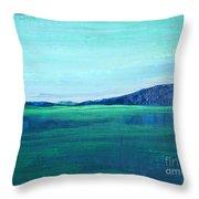 Alaska Lake Throw Pillow