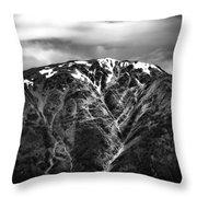 Alaska Mountain Range Throw Pillow