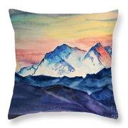 Alaska Mountain Throw Pillow