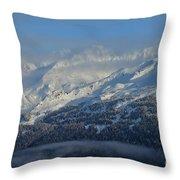 Alaska Mountain View Throw Pillow