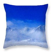 Alaska Mountains Throw Pillow
