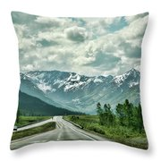 Alaska On The Road  Throw Pillow