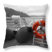 Alaska Orca Voyager Throw Pillow