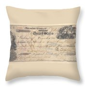 Alaska Purchase: Check Throw Pillow