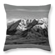Alaska Range Bw Throw Pillow