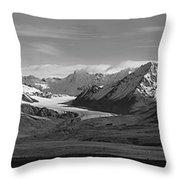 Alaska Range Center Panel Throw Pillow
