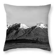 Alaska Range Left Panel Throw Pillow
