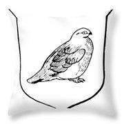 Alaska: State Bird Throw Pillow