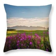 Alaska Summer Love Throw Pillow