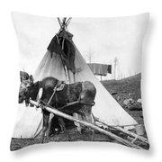Alaska: Tepee, C1916 Throw Pillow