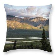Alaskan Glacial Valley Throw Pillow