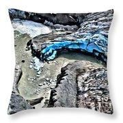 Alaskan Glacier Throw Pillow