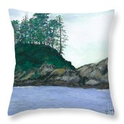 Alaskan Islet Throw Pillow