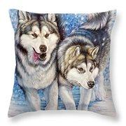 Alaskan Malamute Throw Pillow