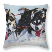 Alaskan Malamute Strong And Steady Throw Pillow