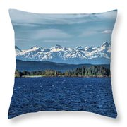 Alaskan Mountain Panorama Throw Pillow