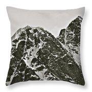 Alaskan Peaks Throw Pillow
