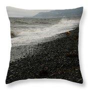 Alaskan Rock Beach Throw Pillow
