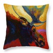 Alaskan Spirit - Moose Throw Pillow