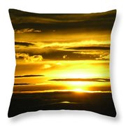 Alaskan Sunset Throw Pillow