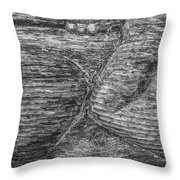 Alaskan Totem Pole Black White Throw Pillow