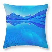Alaskan Winter Night By Adam Asar 3 Throw Pillow