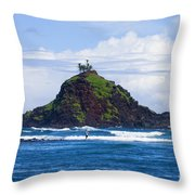 Alau Islet, Fisherman Throw Pillow