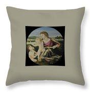 Alba Madonna Throw Pillow