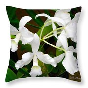 Alba  Orchid Throw Pillow