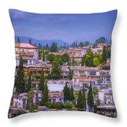 Albayzin View Granada Throw Pillow