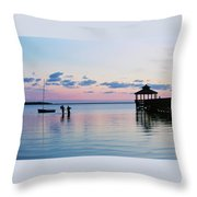 Outer Banks,nc,sunset Throw Pillow