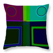 Albers Medal Throw Pillow