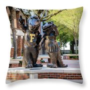 Albert And Alberta Gator Throw Pillow
