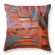 Albert And Christine - Tile Throw Pillow