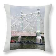 Albert Bridge Throw Pillow