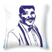 Albert Collins Throw Pillow