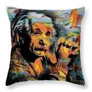 Albert Einstein - By Prar Throw Pillow