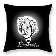 Albert Einstein Caricature On A White Glow Throw Pillow