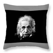 Albert Einstein Circa 1952 Throw Pillow