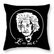 Albert Einstein Discoverer Of The Law Of Relativity Throw Pillow