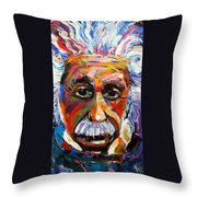 Albert Einstein Genius Throw Pillow